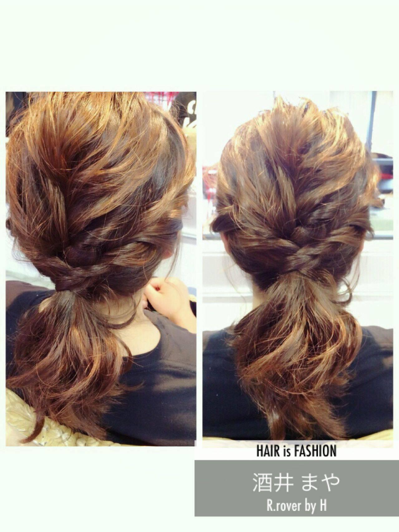 編み込み ねじり 愛され ヘアアレンジヘアスタイルや髪型の写真・画像