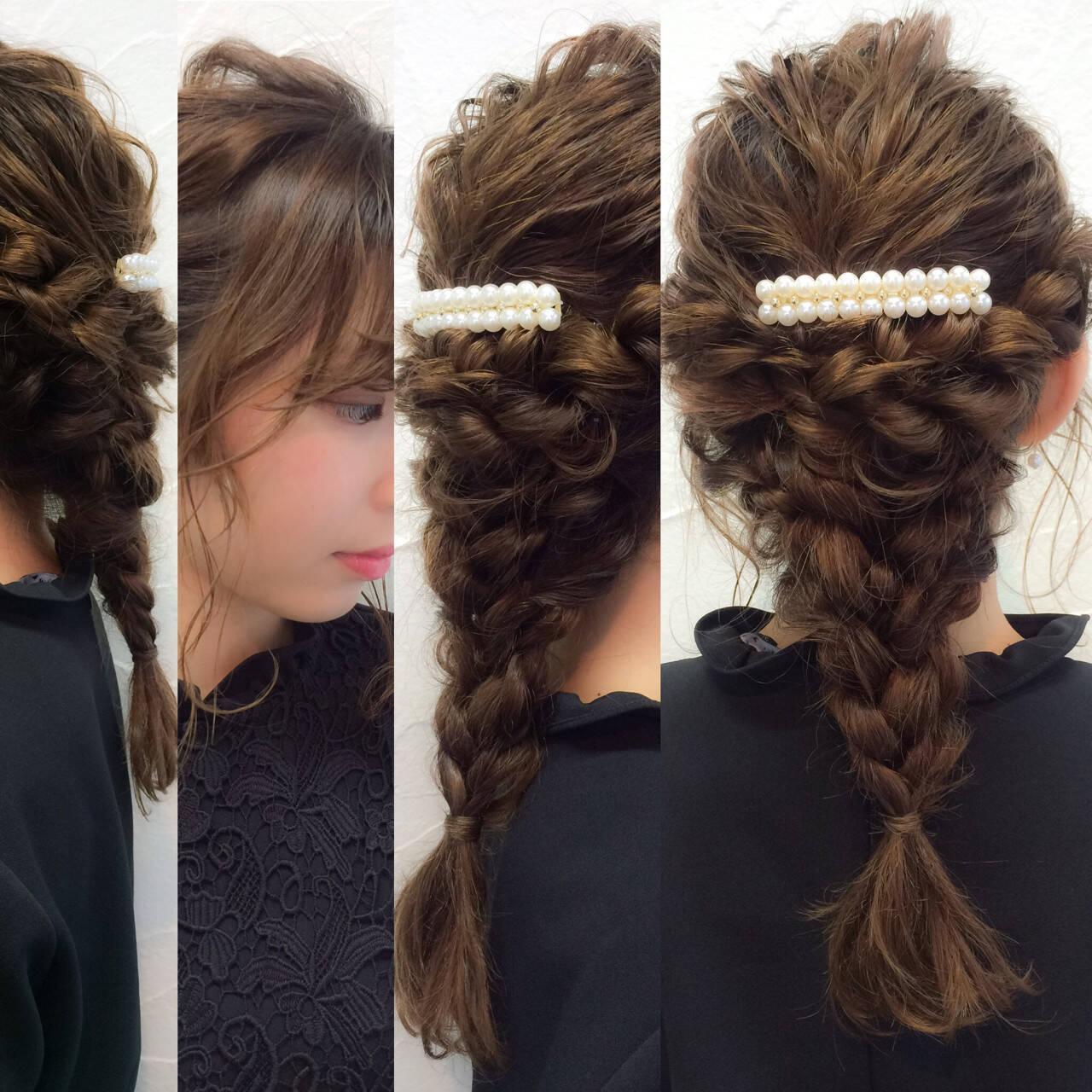 ラフ パーティ セミロング 大人かわいいヘアスタイルや髪型の写真・画像
