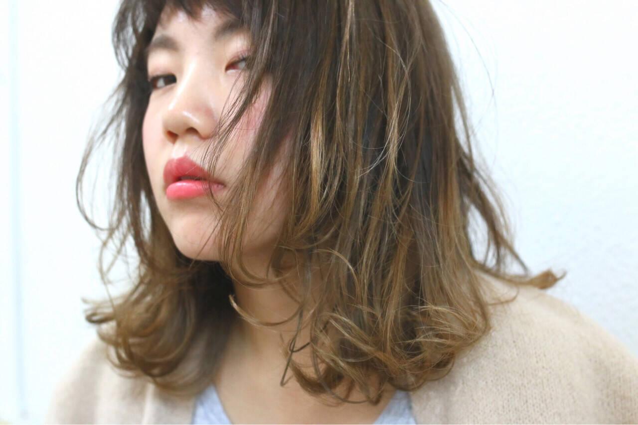 グラデーションカラー ストリート 大人かわいい フェミニンヘアスタイルや髪型の写真・画像