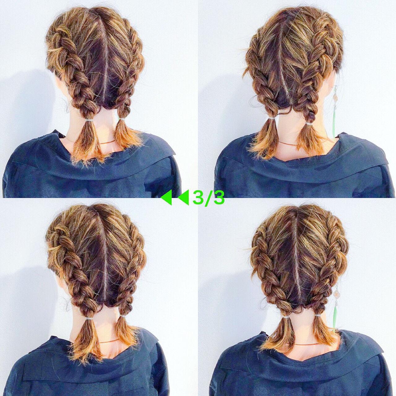 ヘアアレンジ デート ストリート ボブヘアスタイルや髪型の写真・画像