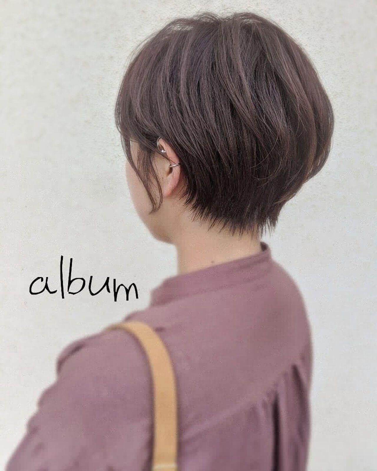 ショートボブ ショートヘア ガーリー ベリーショートヘアスタイルや髪型の写真・画像