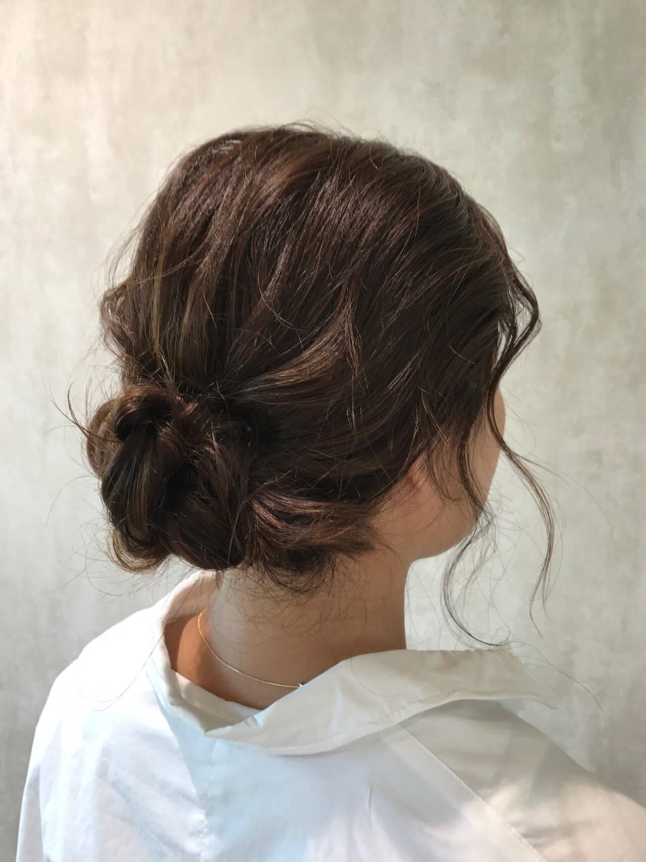 簡単ヘアアレンジ ラフ ナチュラル 結婚式ヘアスタイルや髪型の写真・画像