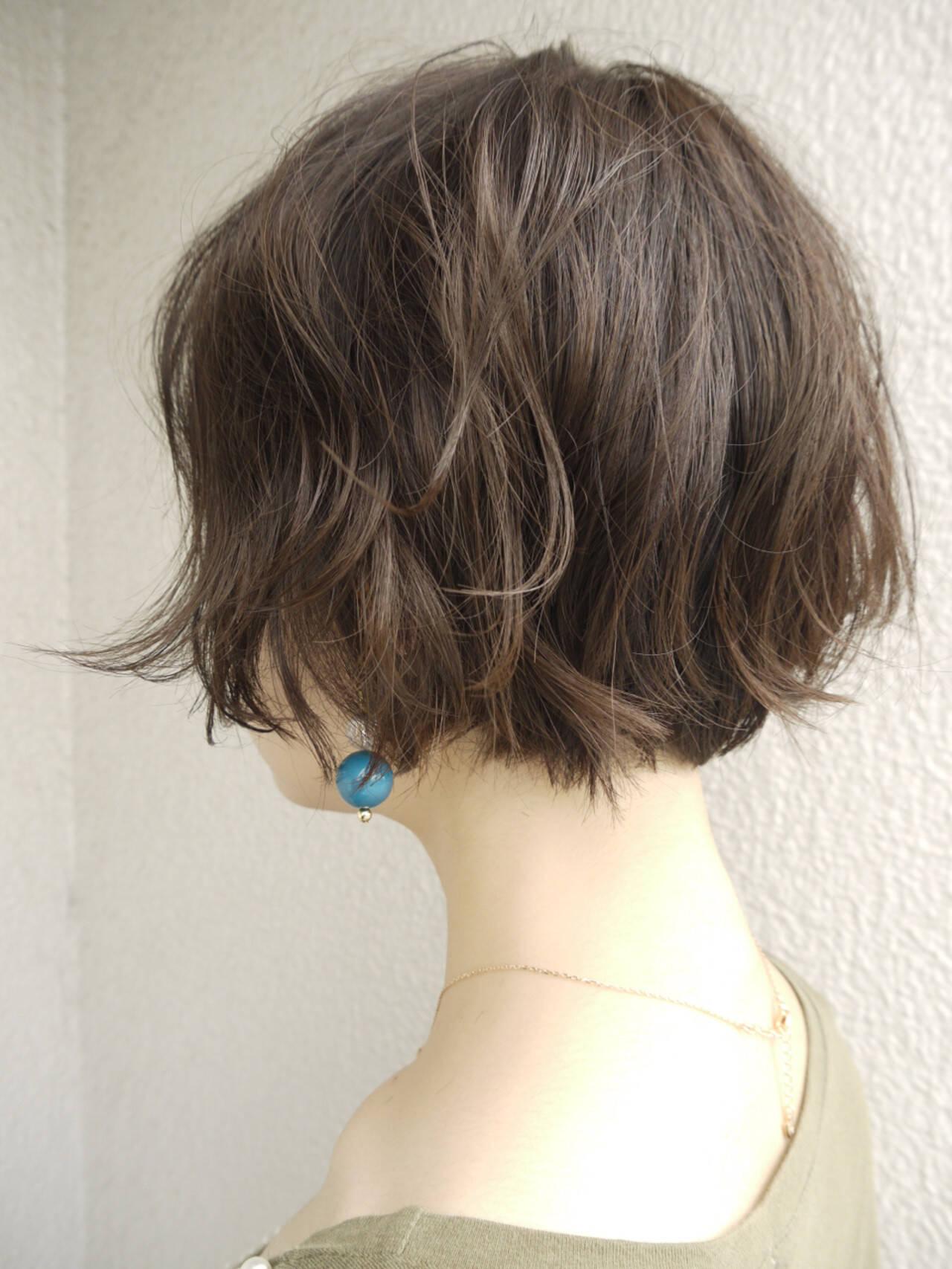 ゆるふわ 女子力 大人かわいい ショートヘアスタイルや髪型の写真・画像