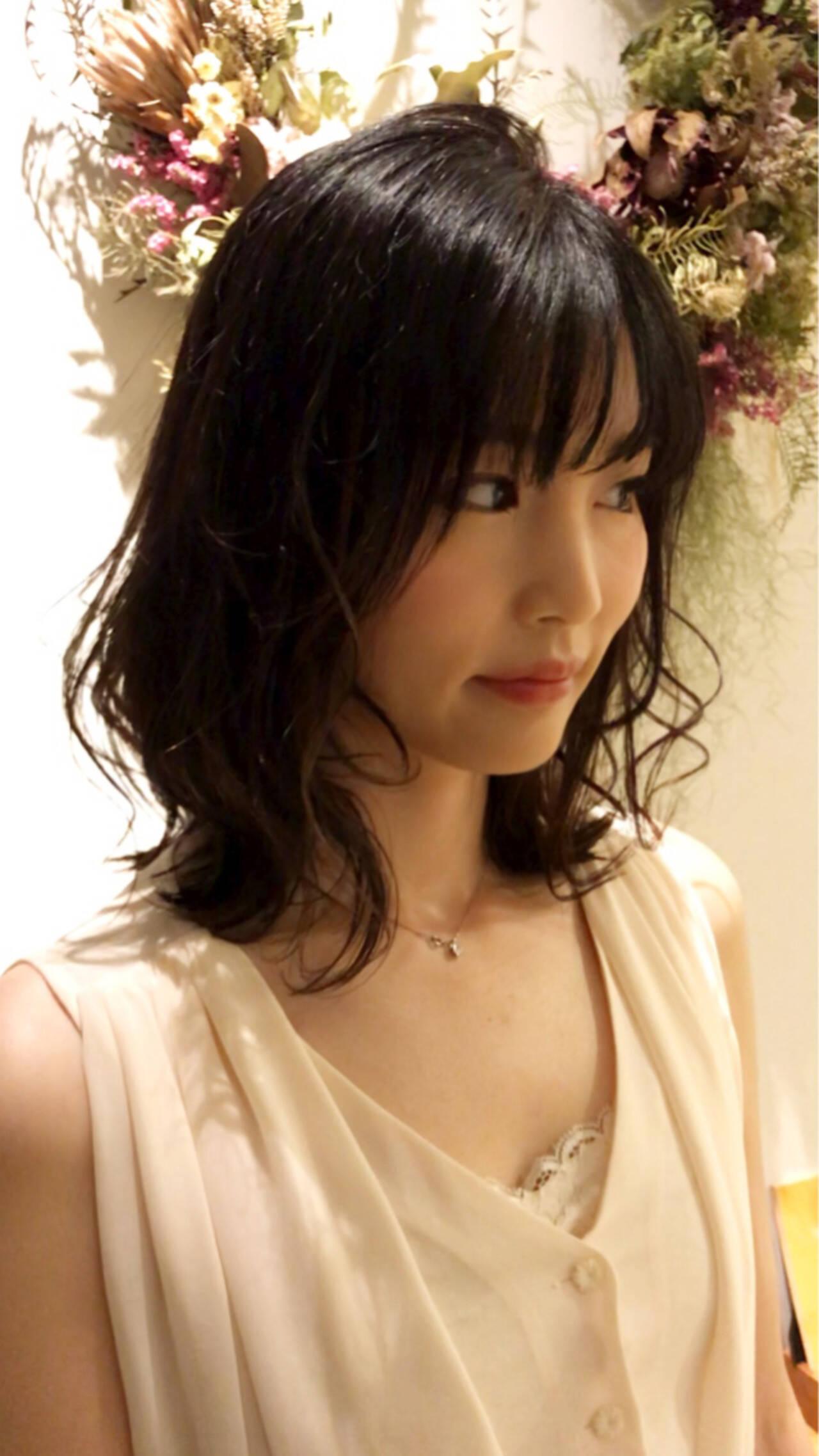 夏 大人かわいい 結婚式 パーティヘアスタイルや髪型の写真・画像