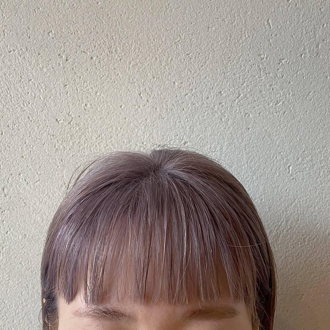 ラベンダーアッシュ ボブ ラベンダーカラー ラベンダーヘアスタイルや髪型の写真・画像