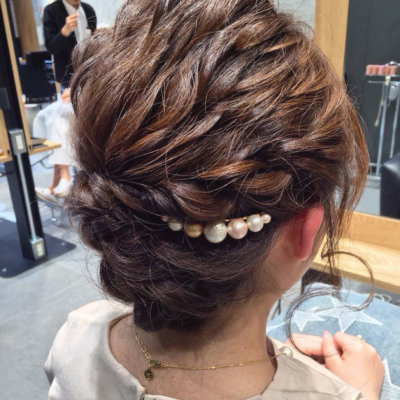 ヘアアレンジ 大人女子 ハーフアップ ショートヘアスタイルや髪型の写真・画像