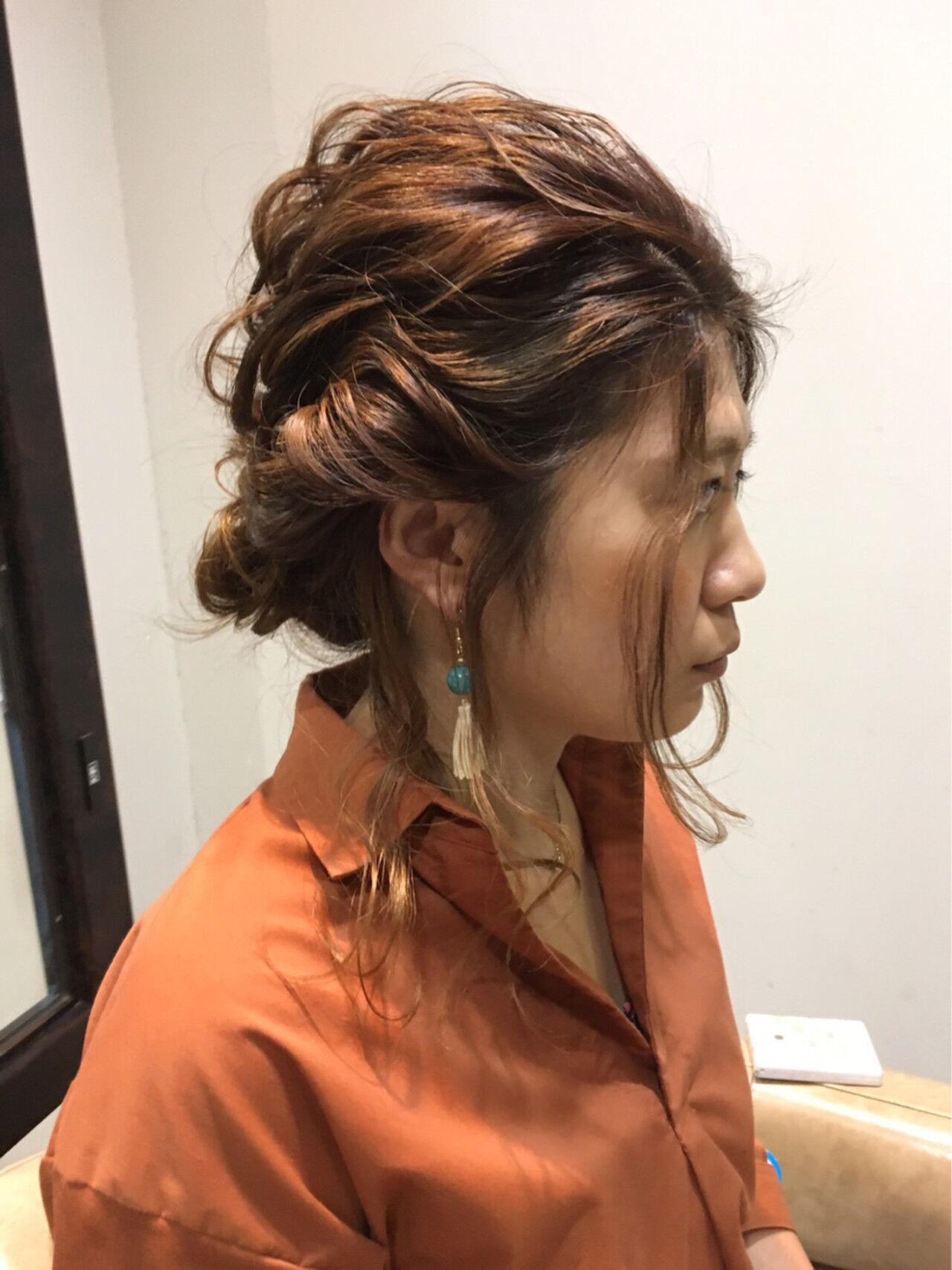 外国人風 ゆるふわ ハイライト ヘアアレンジヘアスタイルや髪型の写真・画像
