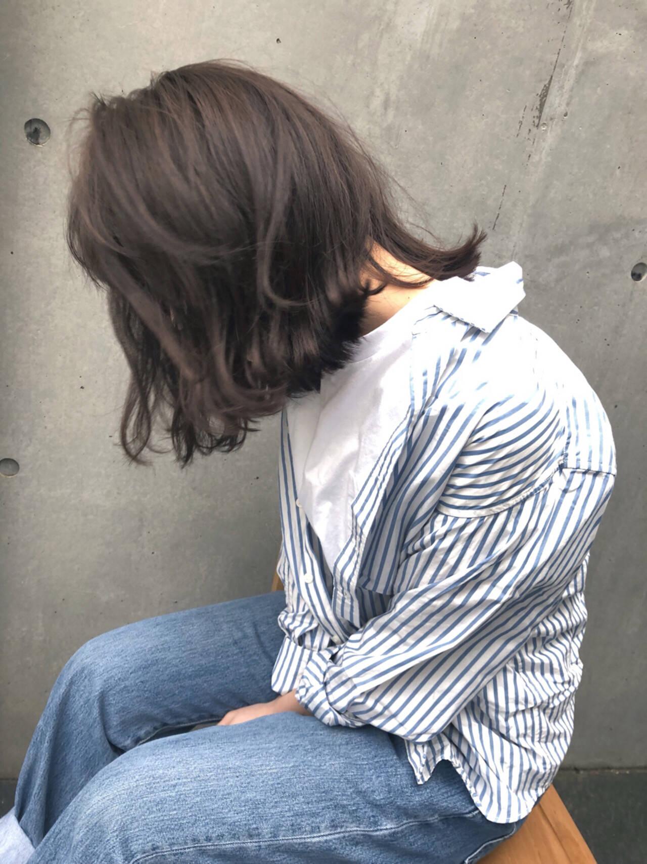 ヘアアレンジ ロブ ナチュラル ボブヘアスタイルや髪型の写真・画像