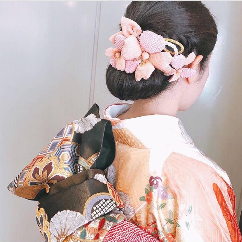 アップスタイル ヘアアレンジ 結婚式 ナチュラルヘアスタイルや髪型の写真・画像