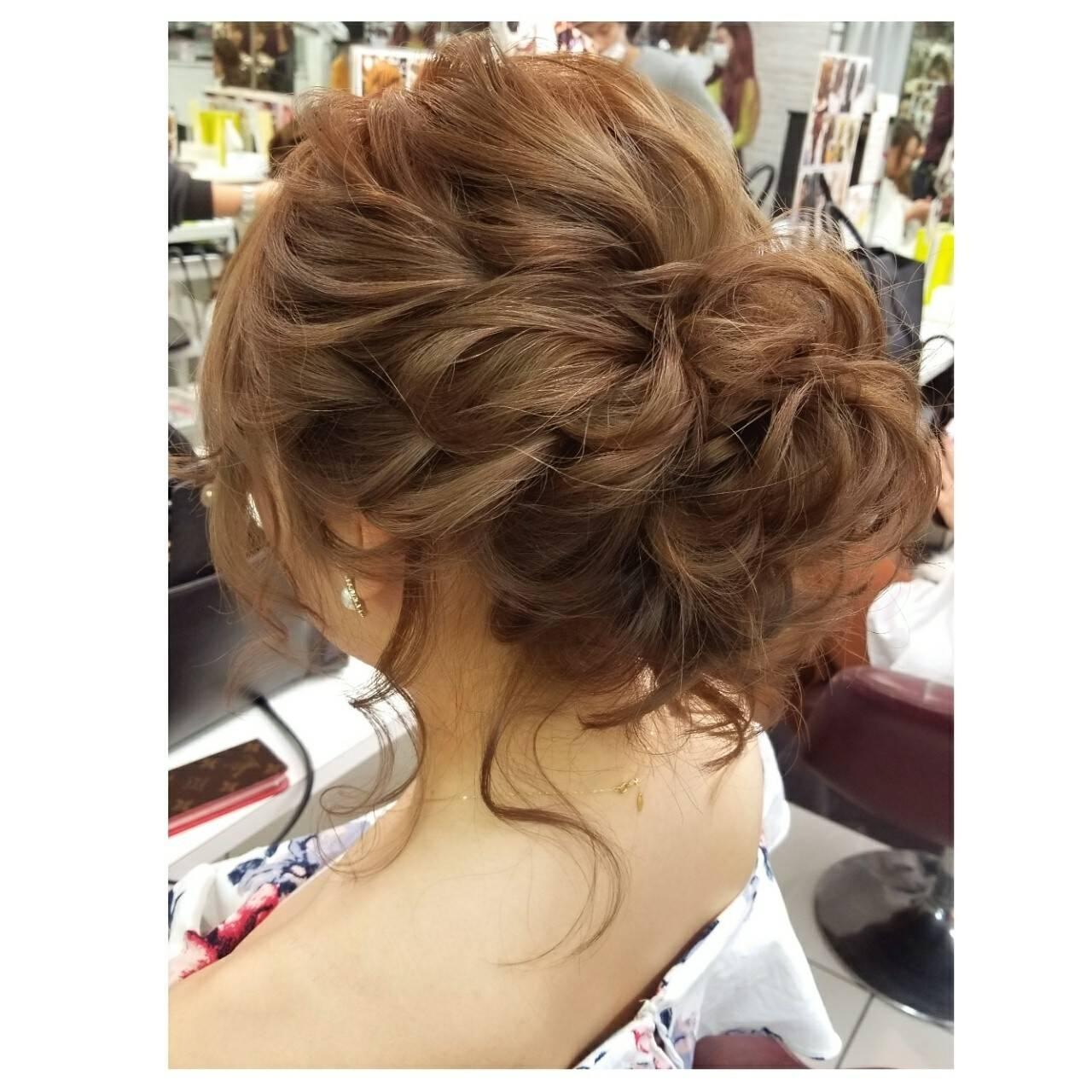 エレガント ヘアアレンジ 上品 結婚式ヘアスタイルや髪型の写真・画像