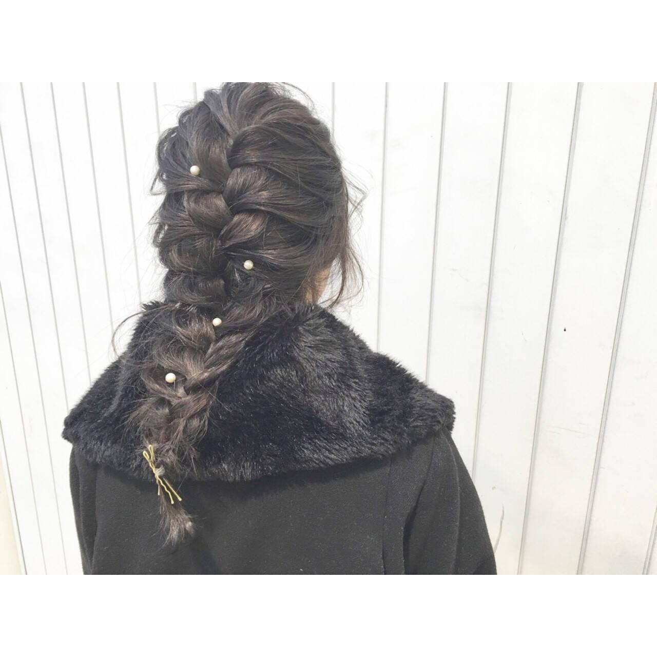 外国人風 ショート ヘアアレンジ ロングヘアスタイルや髪型の写真・画像