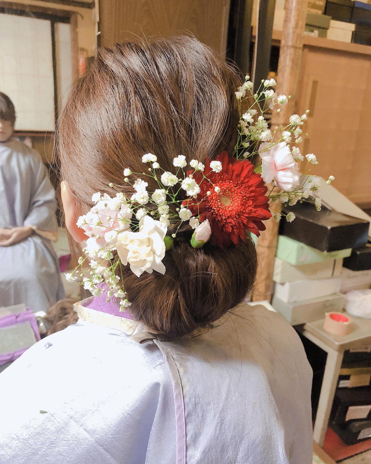 簡単ヘアアレンジ かわいい シンプル ヘアアレンジヘアスタイルや髪型の写真・画像