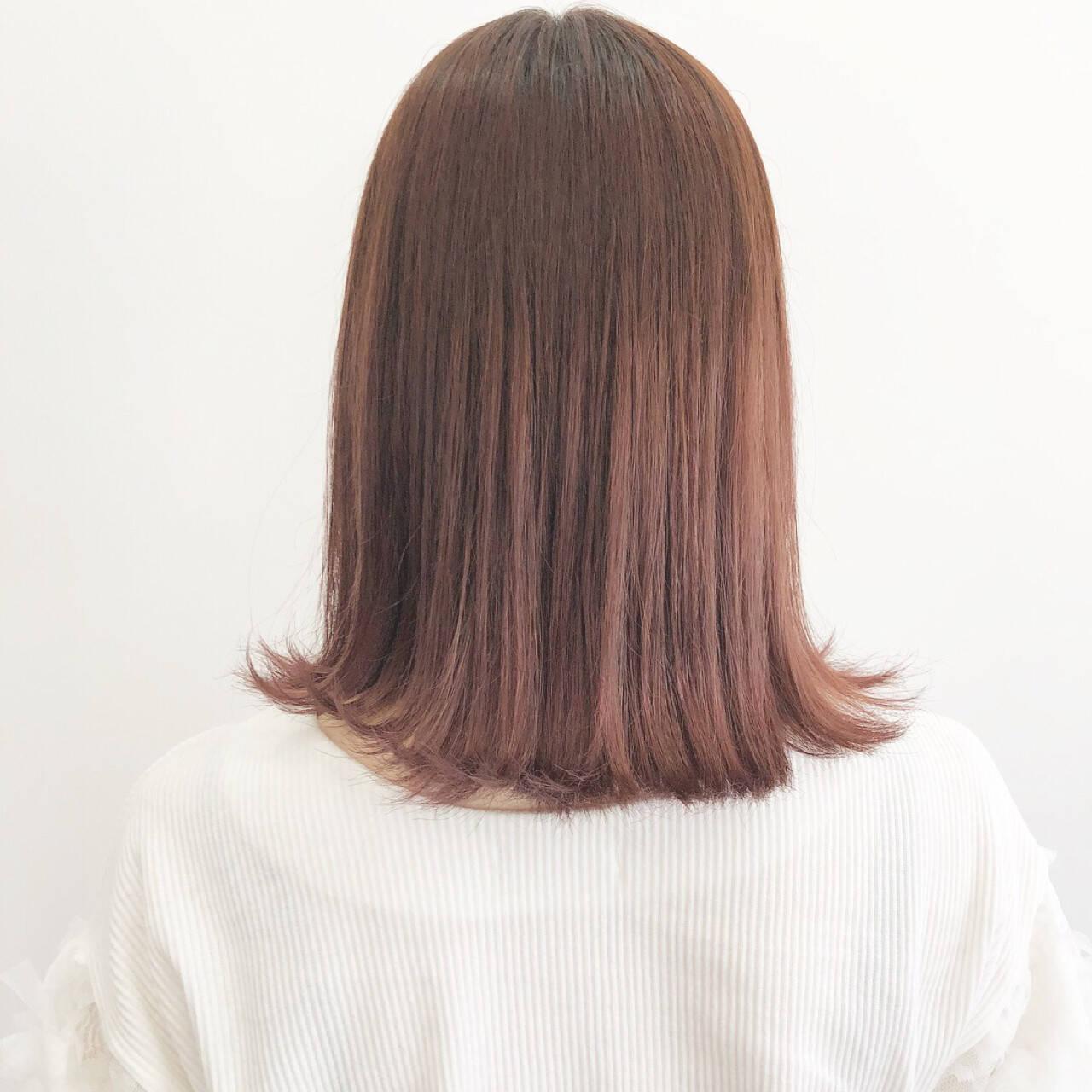 大人女子 ミディアム ブリーチ イルミナカラーヘアスタイルや髪型の写真・画像