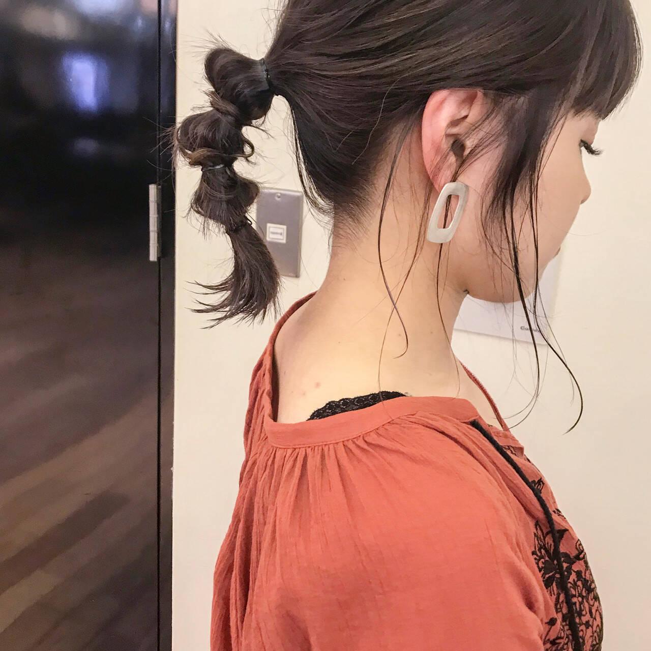 フェミニン 夏 エフォートレス ミディアムヘアスタイルや髪型の写真・画像
