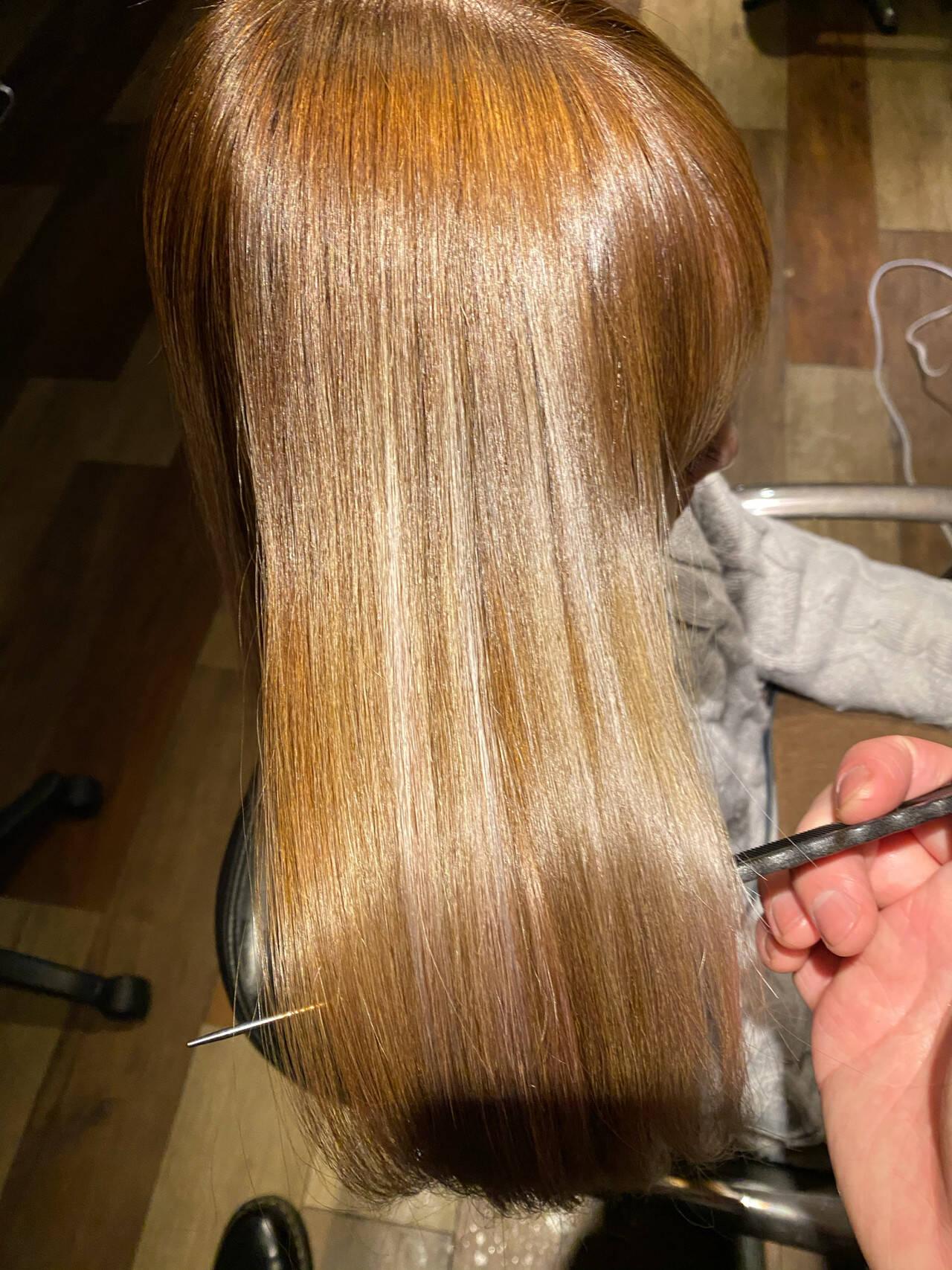 簡単ヘアアレンジ 髪質改善カラー ナチュラル 髪質改善ヘアスタイルや髪型の写真・画像