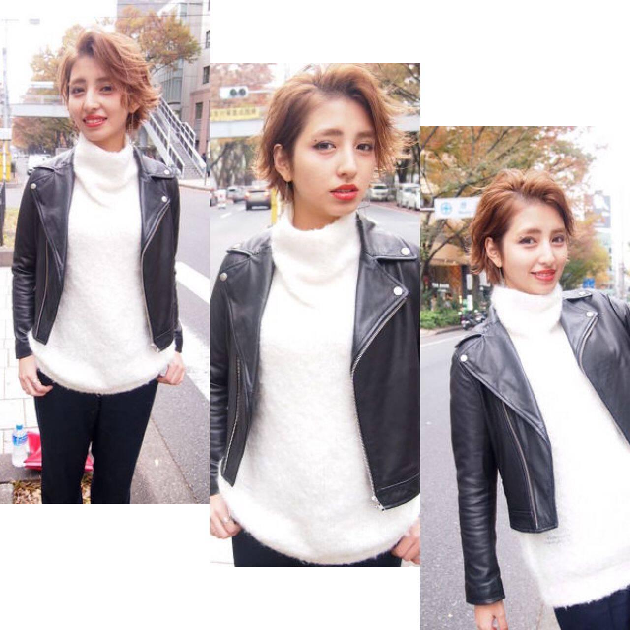 ショート ストリート 外国人風 ボーイッシュヘアスタイルや髪型の写真・画像