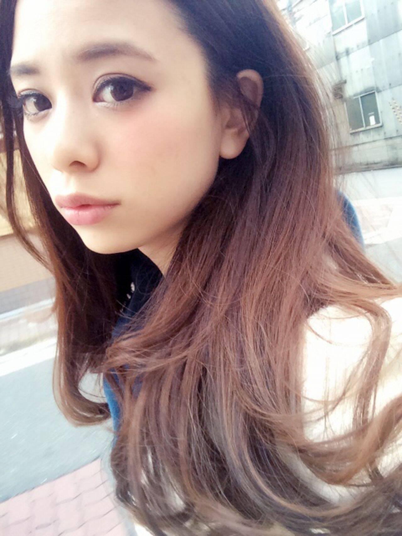 ストリート モテ髪 ゆるふわ ロングヘアスタイルや髪型の写真・画像