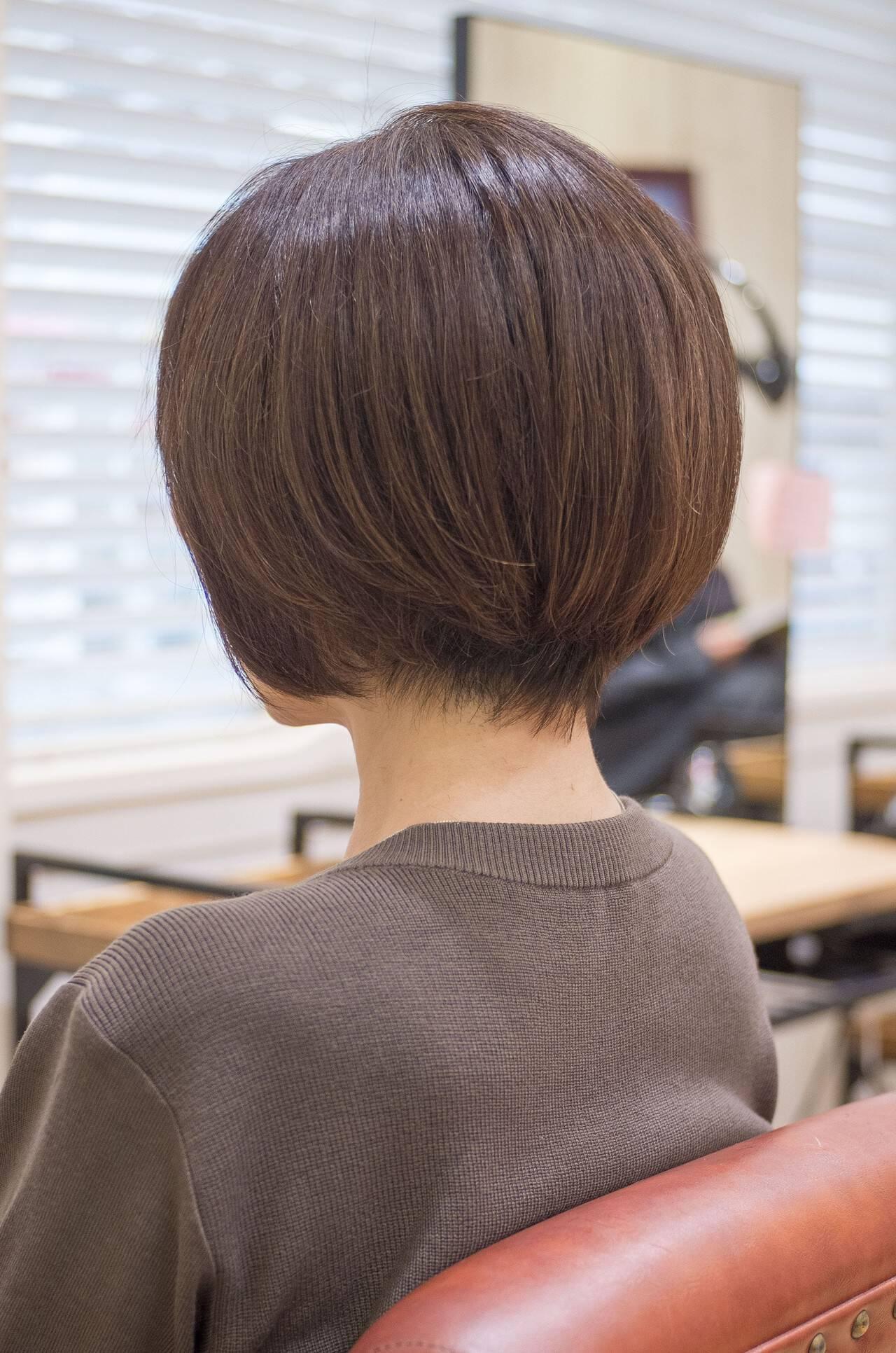 大人かわいい ショートヘア ショート ショートボブヘアスタイルや髪型の写真・画像