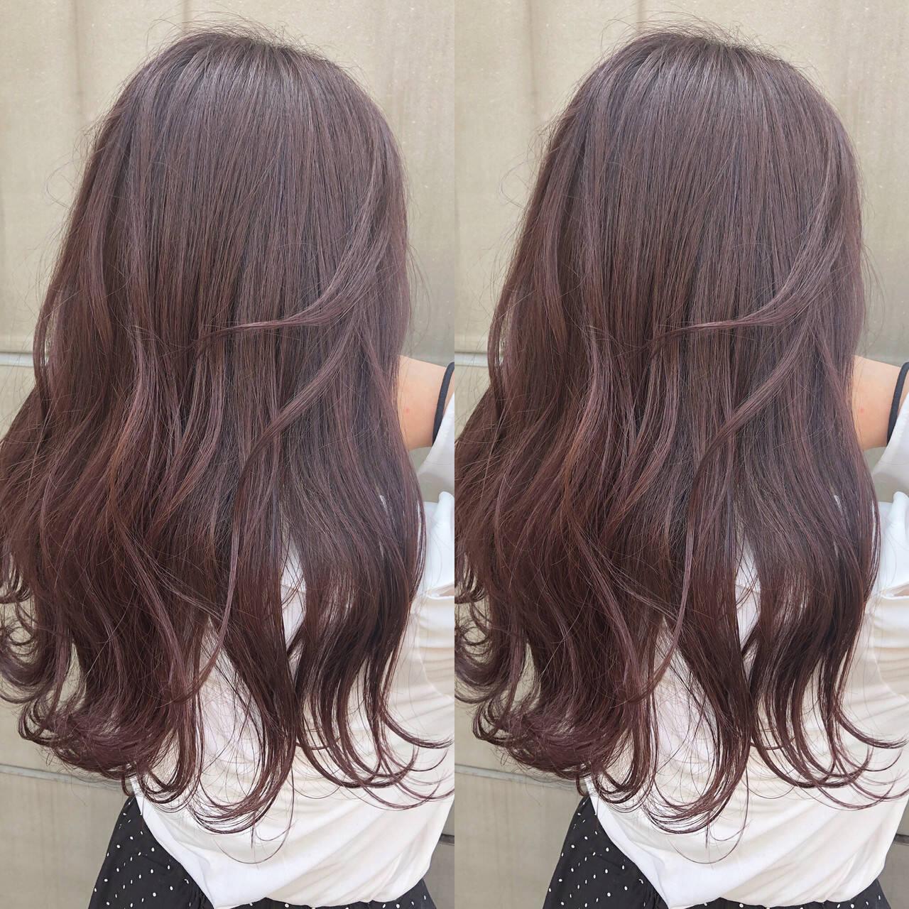 ヘアアレンジ ラベンダーピンク ラベンダーグレージュ 簡単ヘアアレンジヘアスタイルや髪型の写真・画像