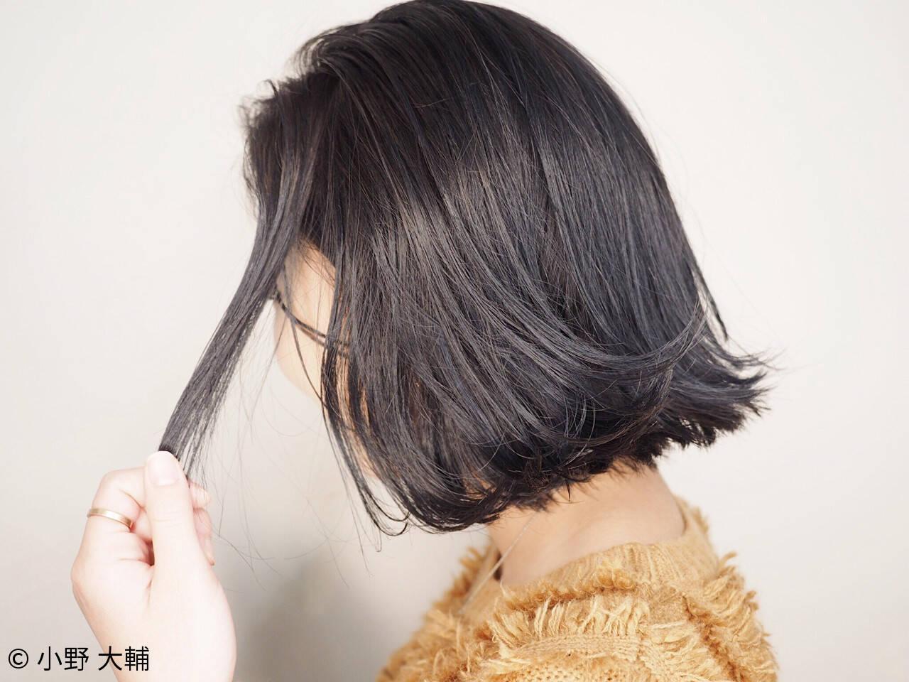 外国人風カラー グレージュ ナチュラル ボブヘアスタイルや髪型の写真・画像