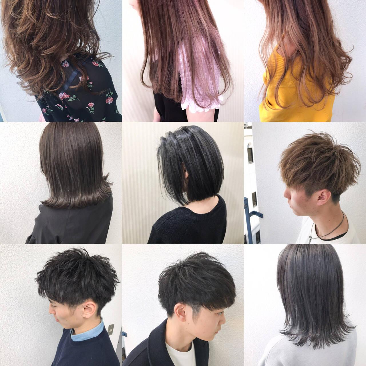 ブラウン 外国人風カラー ナチュラル アッシュヘアスタイルや髪型の写真・画像