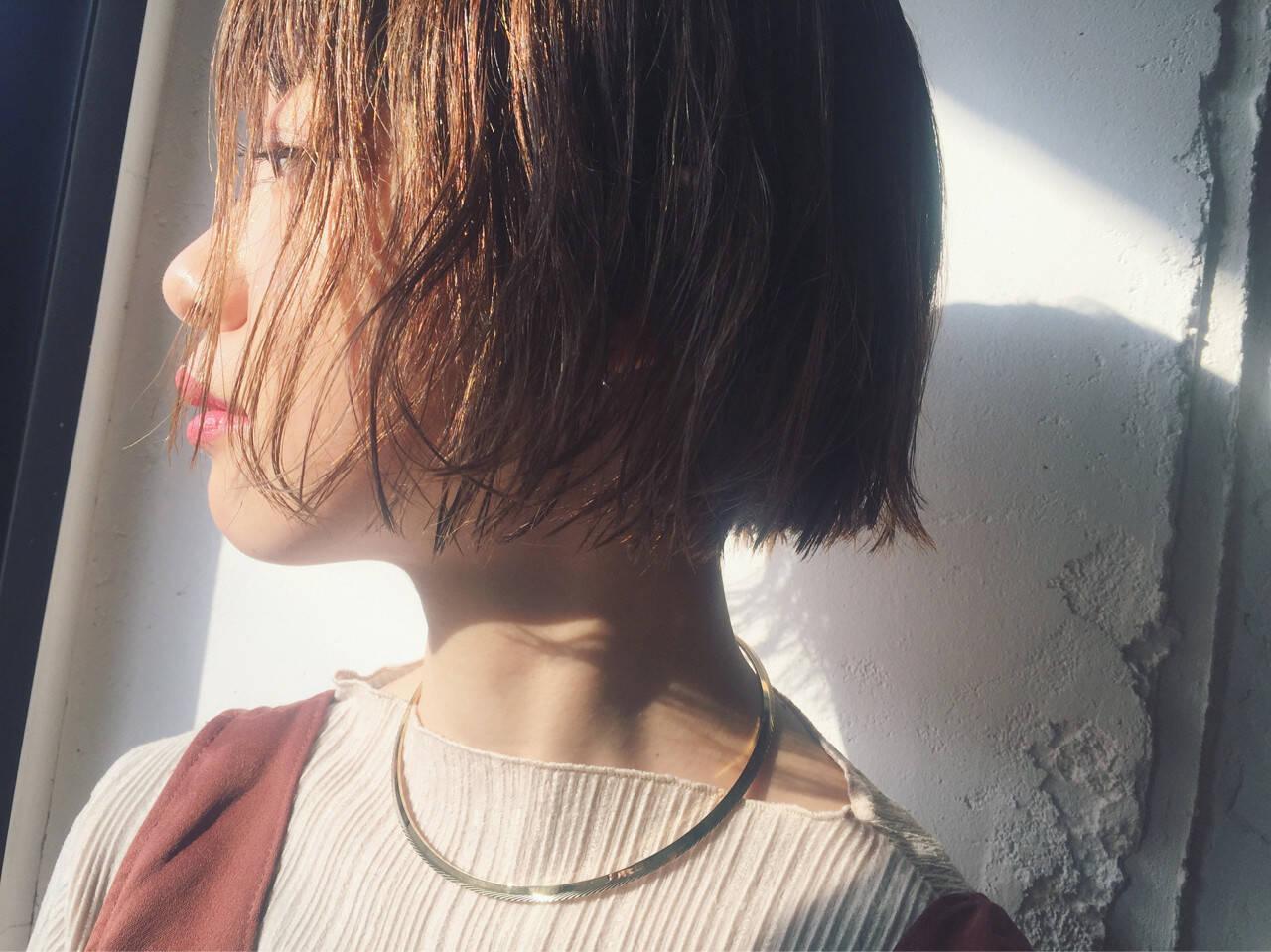 外ハネ グラデーションカラー ナチュラル こなれ感ヘアスタイルや髪型の写真・画像