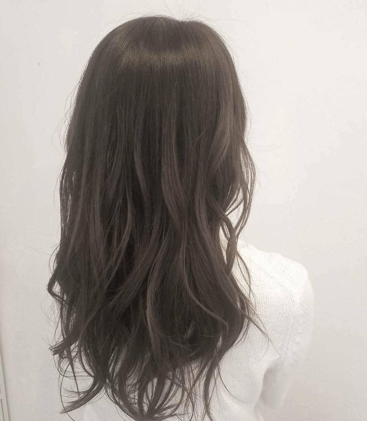 オフィス ナチュラル ロング 秋ヘアスタイルや髪型の写真・画像
