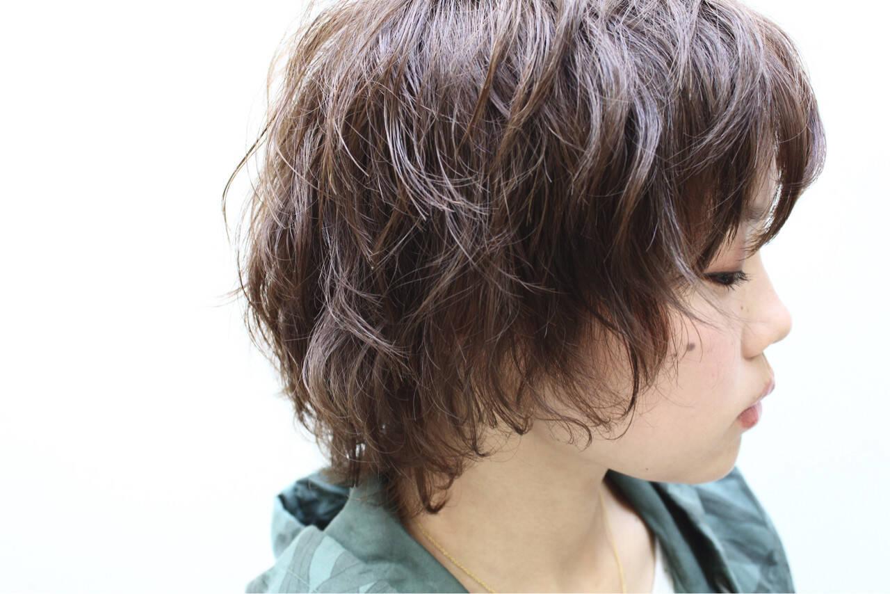 似合わせ 小顔 ショート ストリートヘアスタイルや髪型の写真・画像