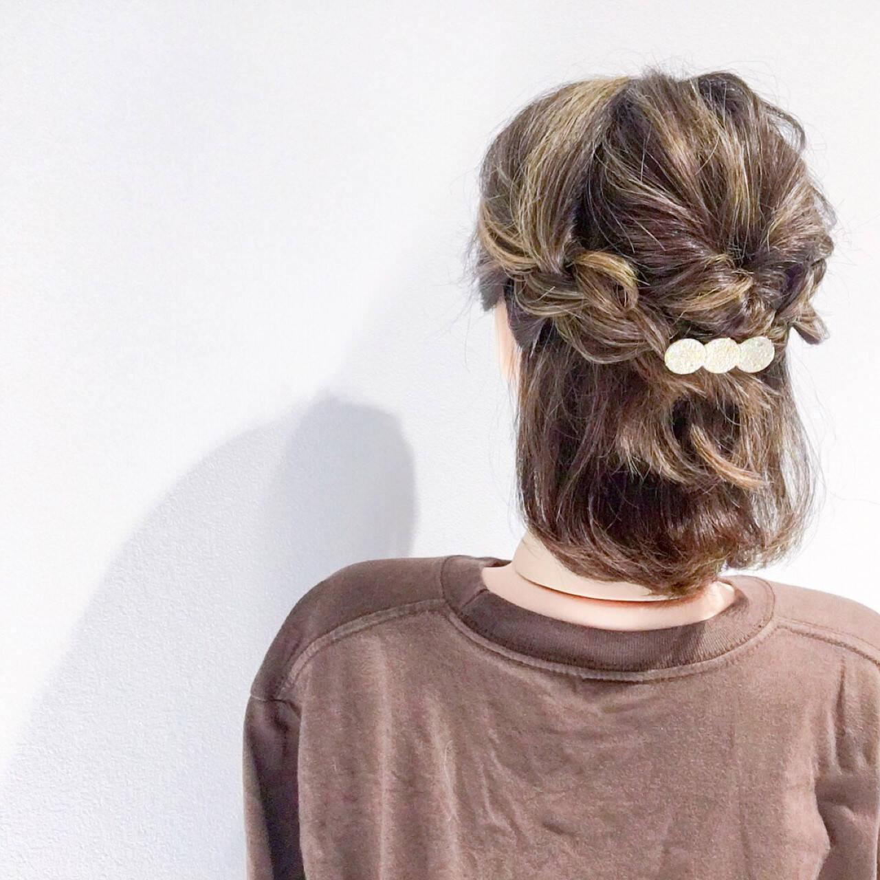 ヘアアレンジ アウトドア デート 簡単ヘアアレンジヘアスタイルや髪型の写真・画像