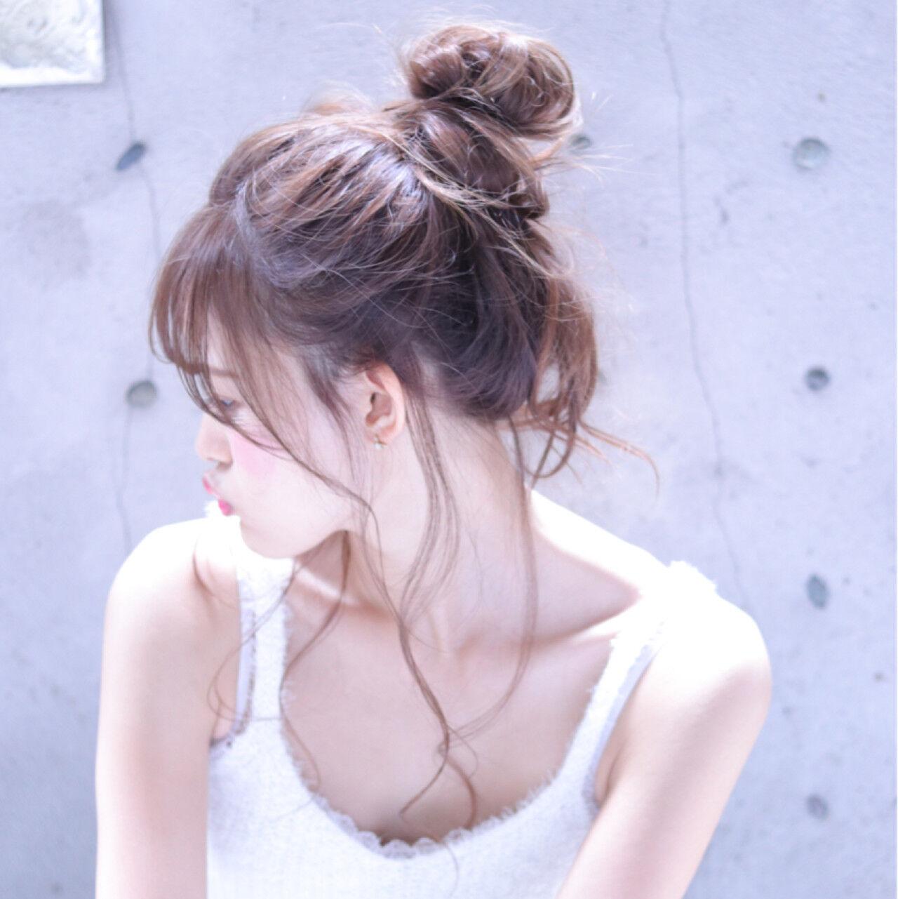 ヘアアレンジ 大人女子 簡単ヘアアレンジ メッシーバンヘアスタイルや髪型の写真・画像