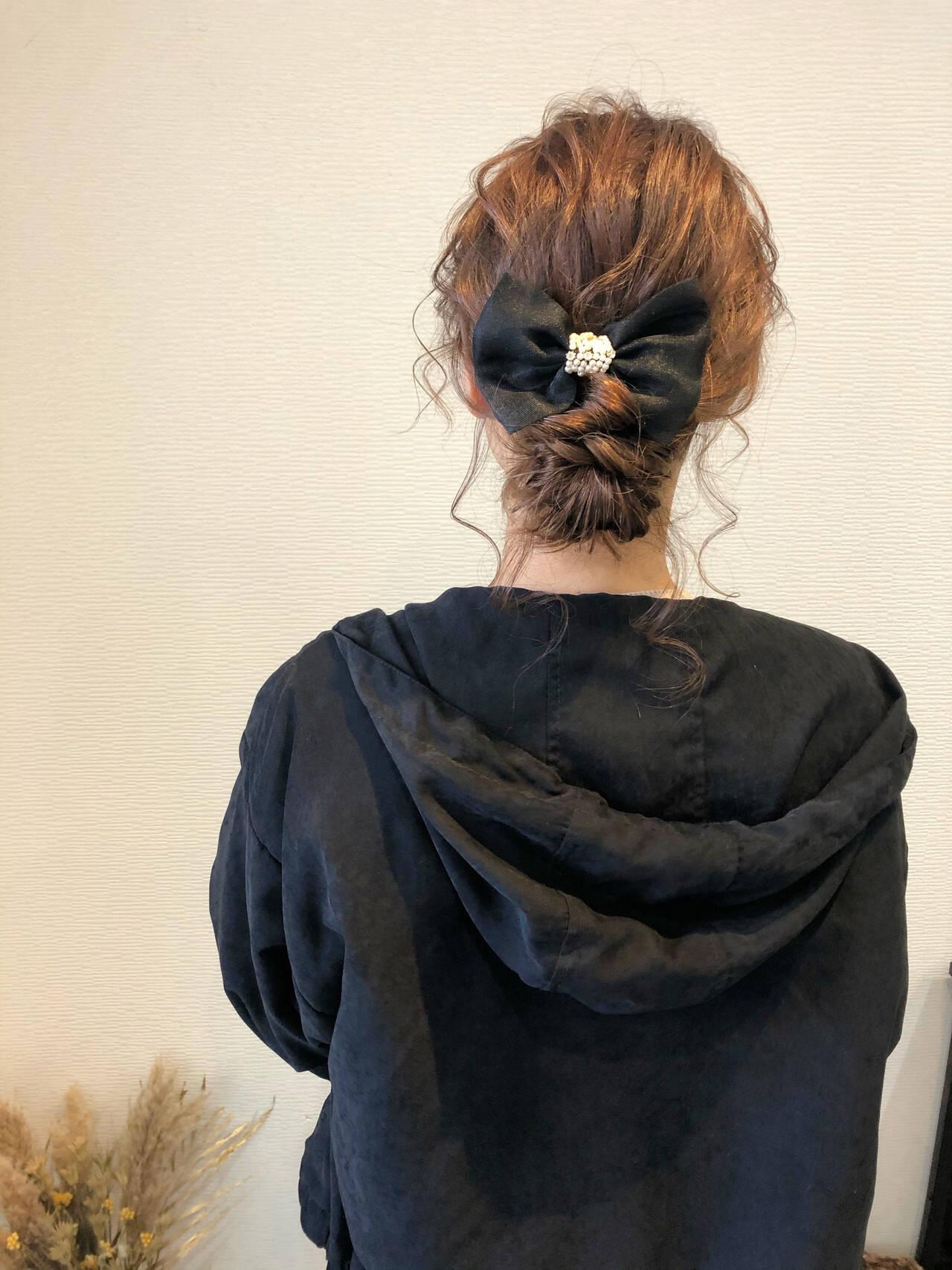 セミロング ヘアセット 結婚式 アップスタイルヘアスタイルや髪型の写真・画像