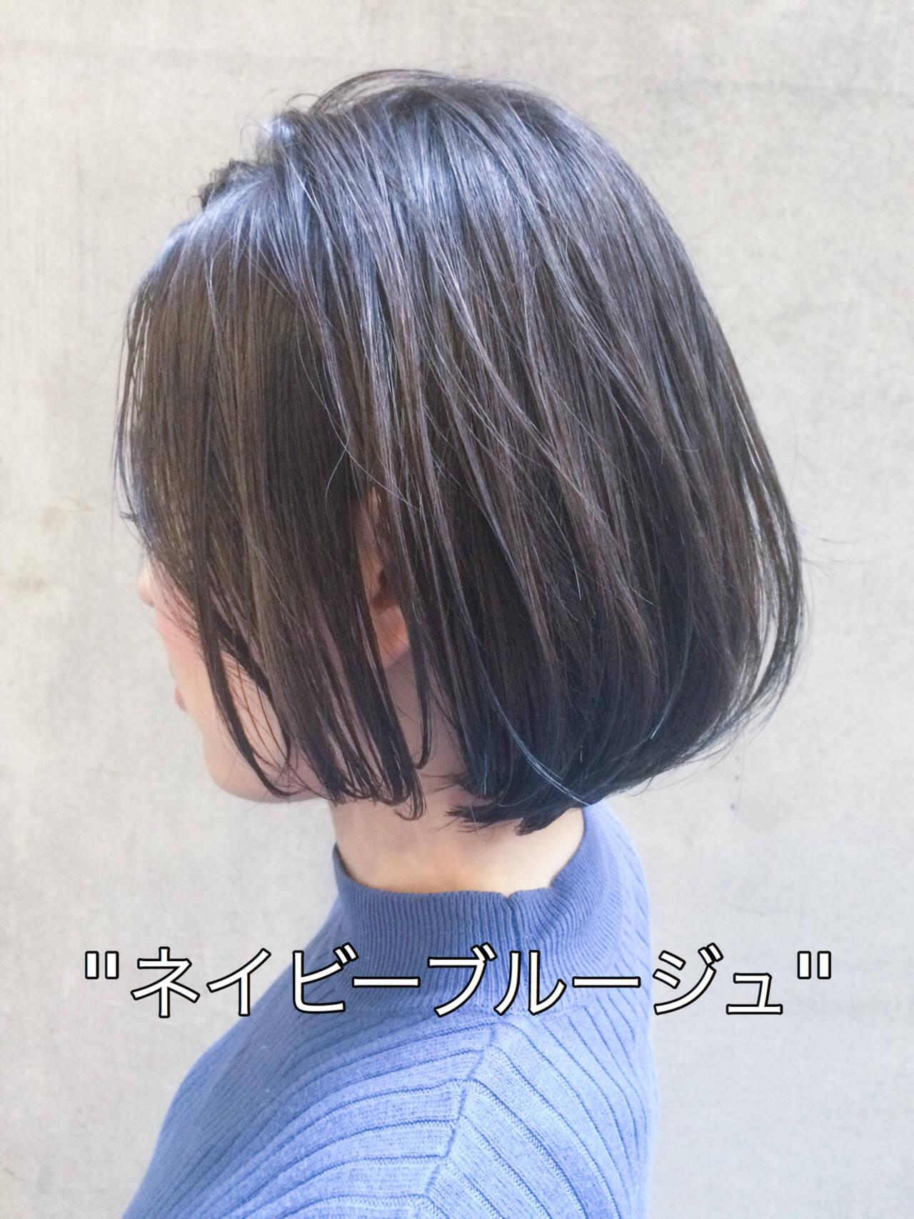 切りっぱなしボブ ミニボブ 外国人風カラー イルミナカラーヘアスタイルや髪型の写真・画像