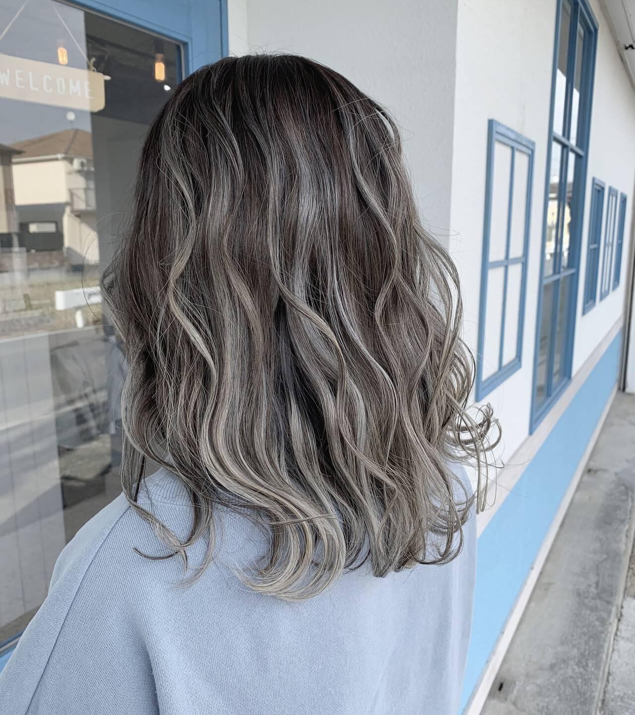 ダブルカラー 圧倒的透明感 透明感カラー 3Dハイライトヘアスタイルや髪型の写真・画像
