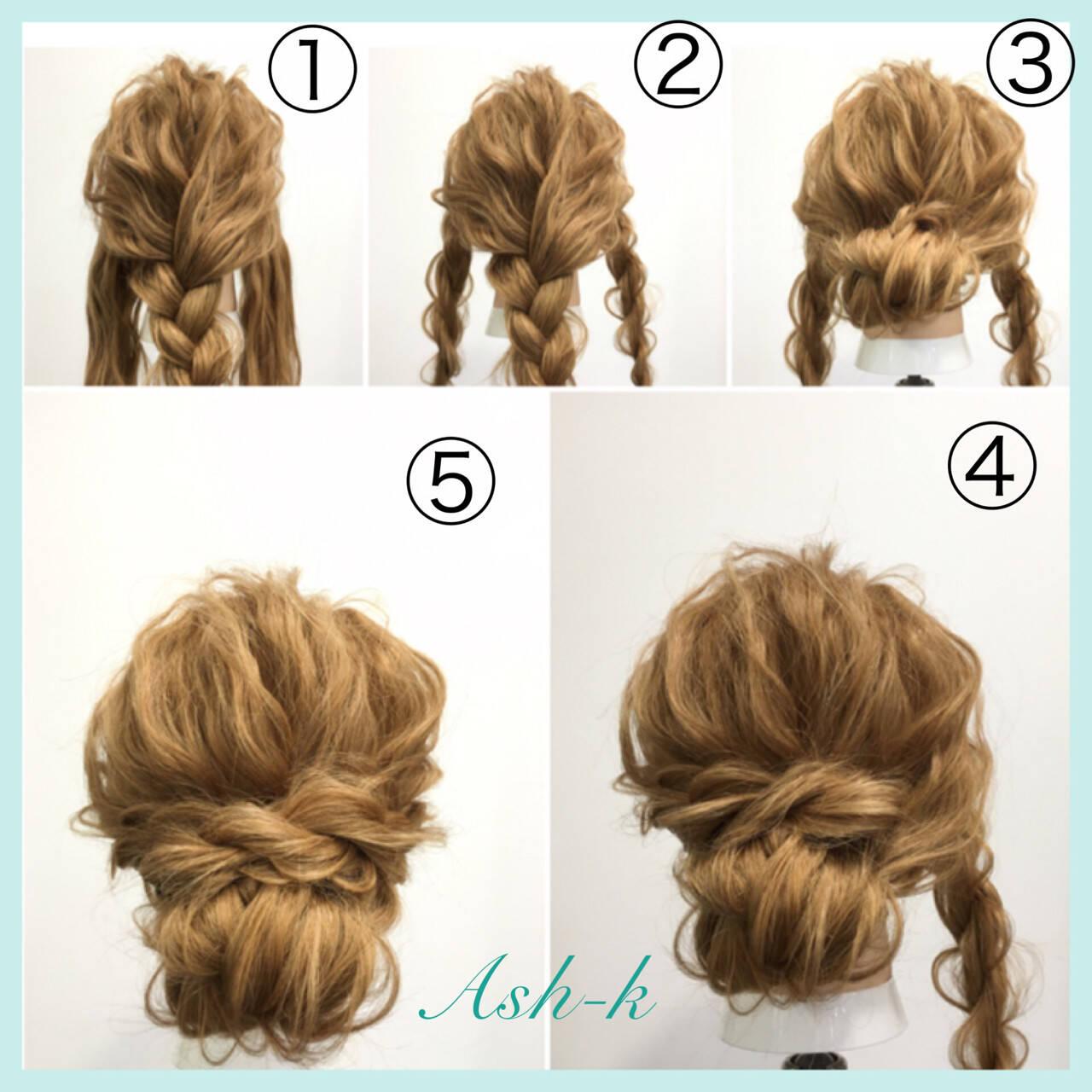 ヘアアレンジ フェミニン 大人女子 簡単ヘアアレンジヘアスタイルや髪型の写真・画像