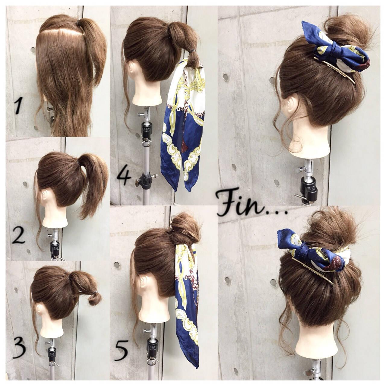 ショート 大人女子 メッシーバン ヘアアクセヘアスタイルや髪型の写真・画像