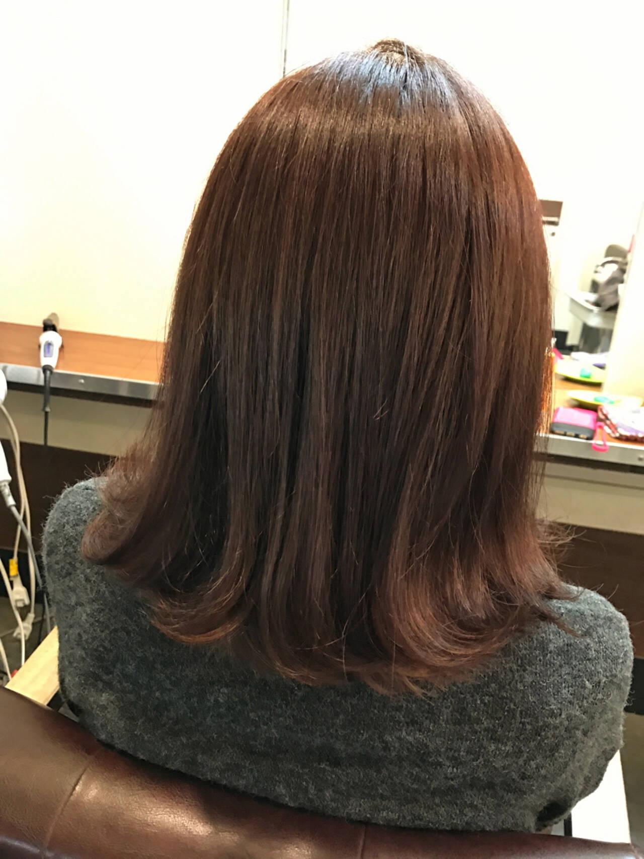 ロブ ストリート ラベンダーアッシュ ラベンダーピンクヘアスタイルや髪型の写真・画像