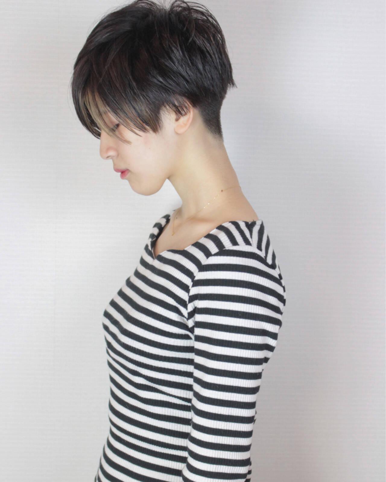 ベリーショート ショート 外国人風カラー 冬ヘアスタイルや髪型の写真・画像