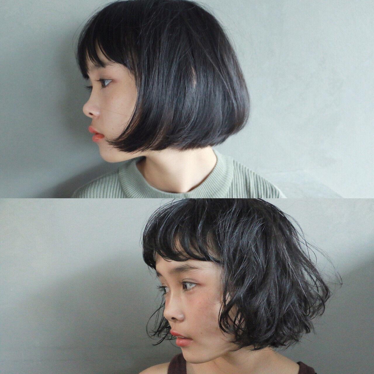 ナチュラル ゆるふわ 暗髪 グレーヘアスタイルや髪型の写真・画像