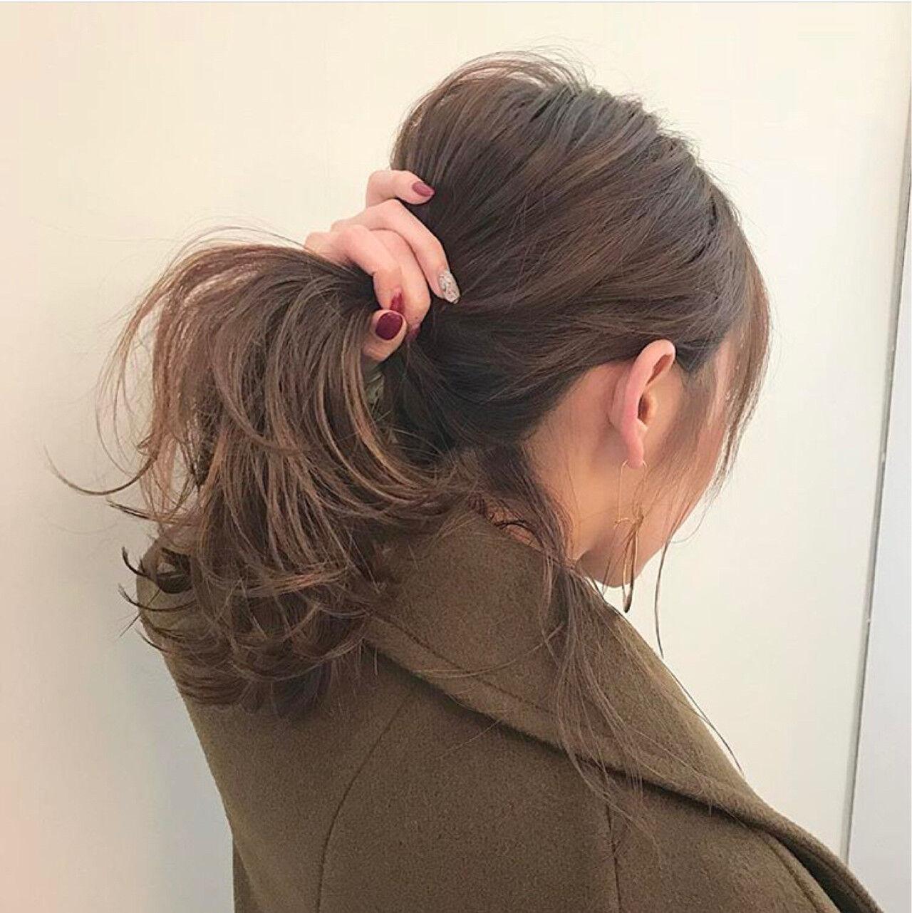 アンニュイ デート 簡単ヘアアレンジ ヘアアレンジヘアスタイルや髪型の写真・画像