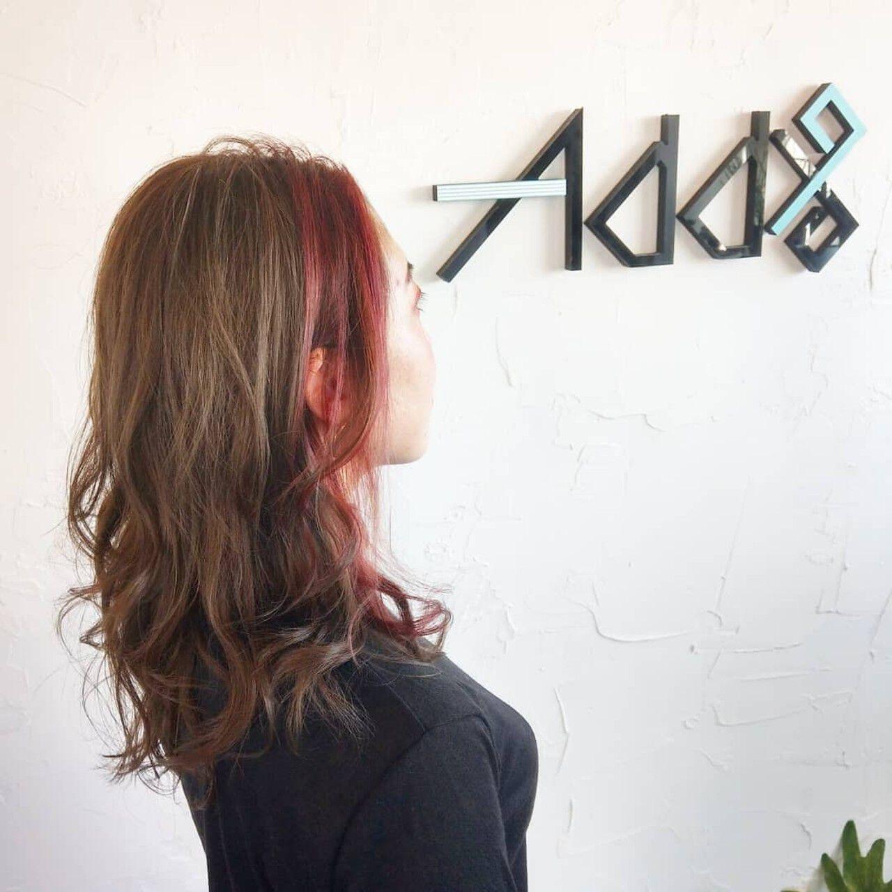 セミロング 韓国ヘア ガーリー ウルフカットヘアスタイルや髪型の写真・画像