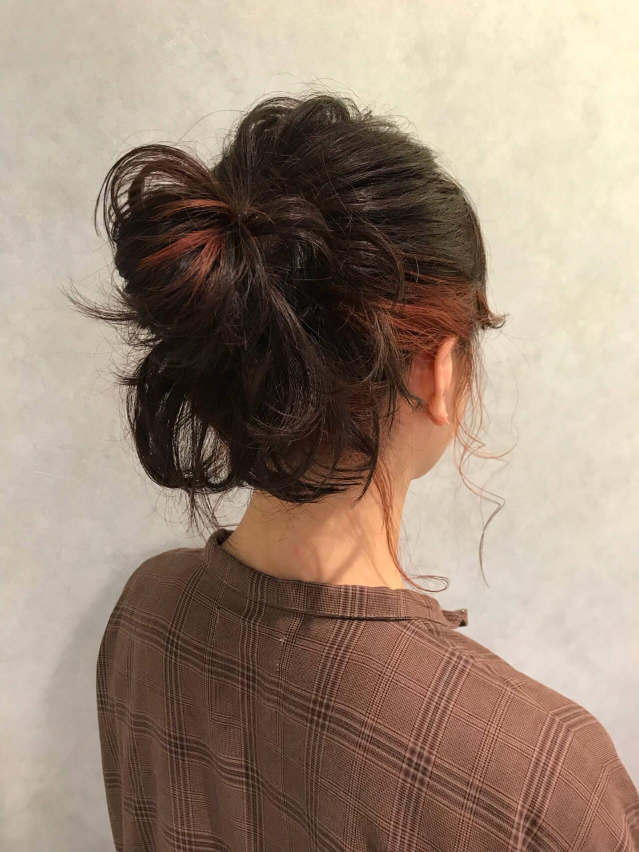 透明感 ストリート レッド ピンクヘアスタイルや髪型の写真・画像