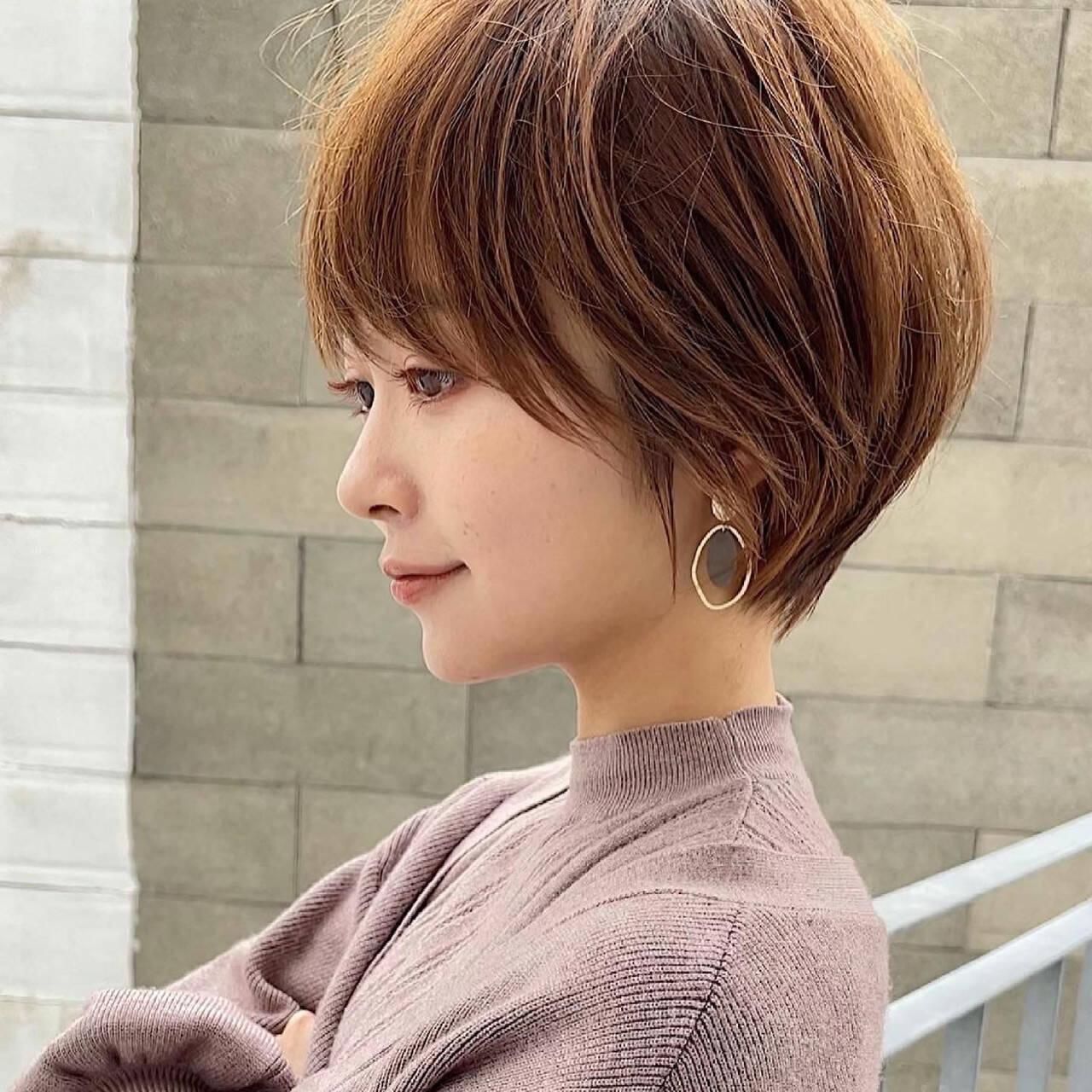 ショートヘア ウルフカット ベリーショート ナチュラルヘアスタイルや髪型の写真・画像