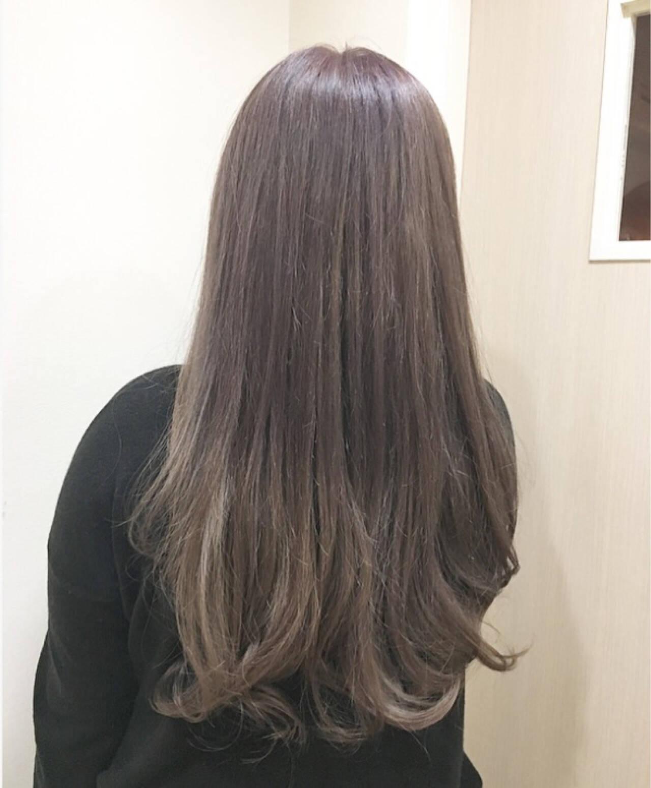 ストリート バイオレットアッシュ ピンク ダブルカラーヘアスタイルや髪型の写真・画像