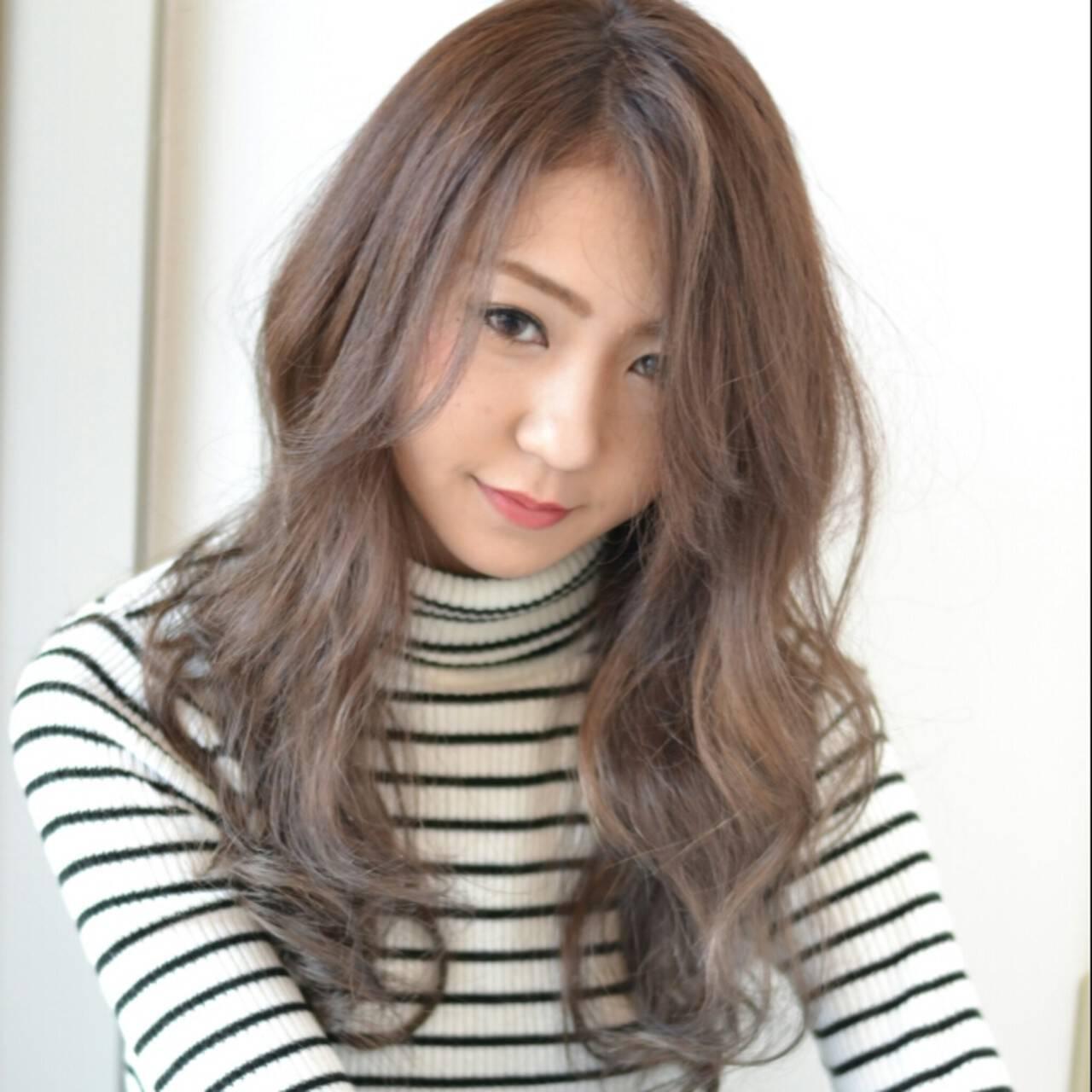 前髪あり 外国人風 ハイライト ロングヘアスタイルや髪型の写真・画像