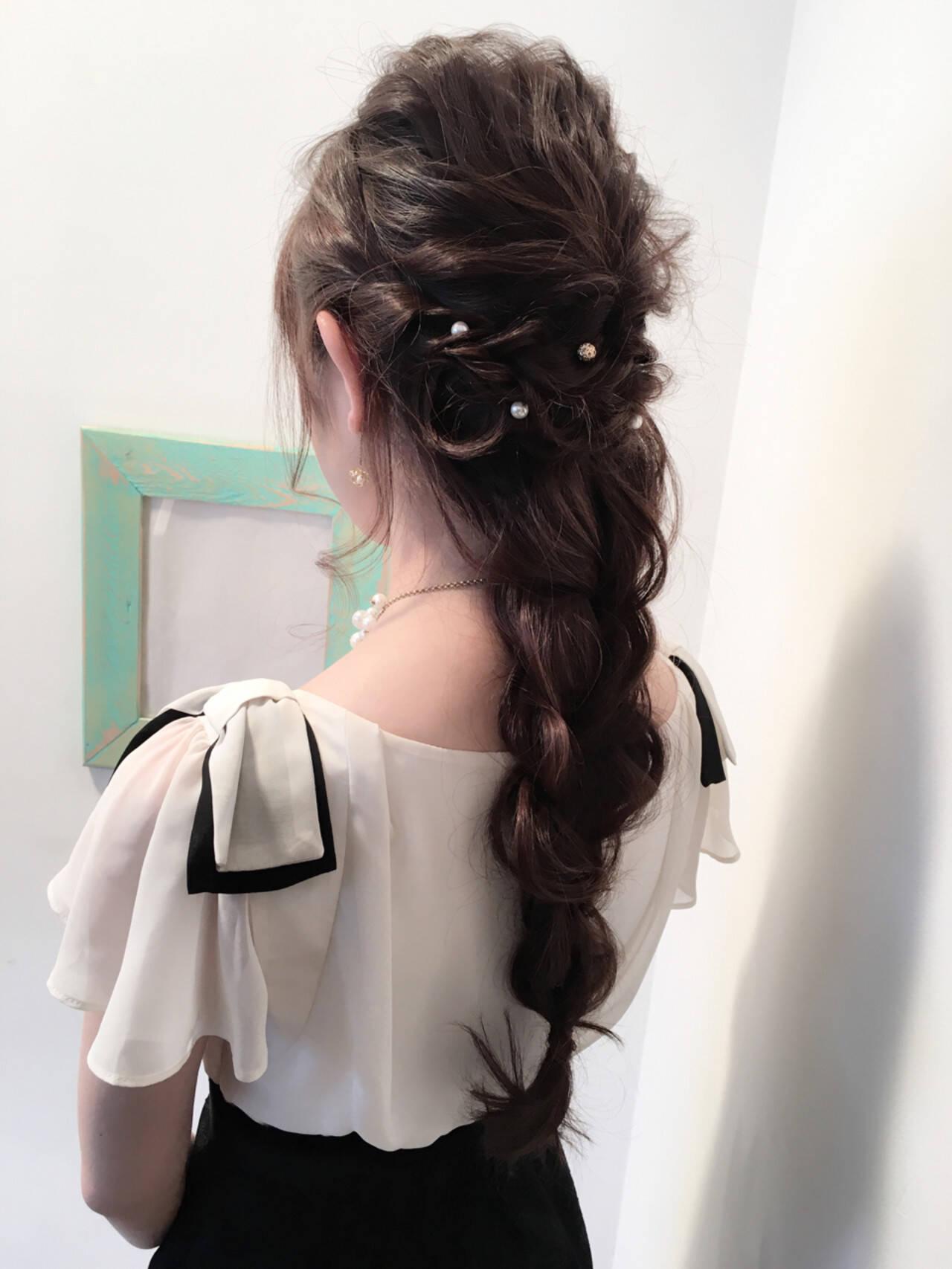 ヘアアレンジ 上品 ショート 結婚式ヘアスタイルや髪型の写真・画像