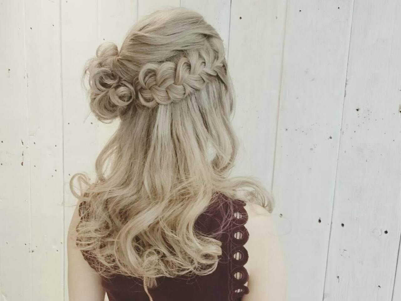 ふわふわ 結婚式 ヘアアレンジ ガーリーヘアスタイルや髪型の写真・画像