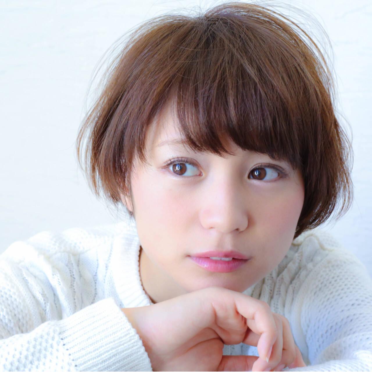 田中美保 マッシュ ショートボブ ショートヘアスタイルや髪型の写真・画像