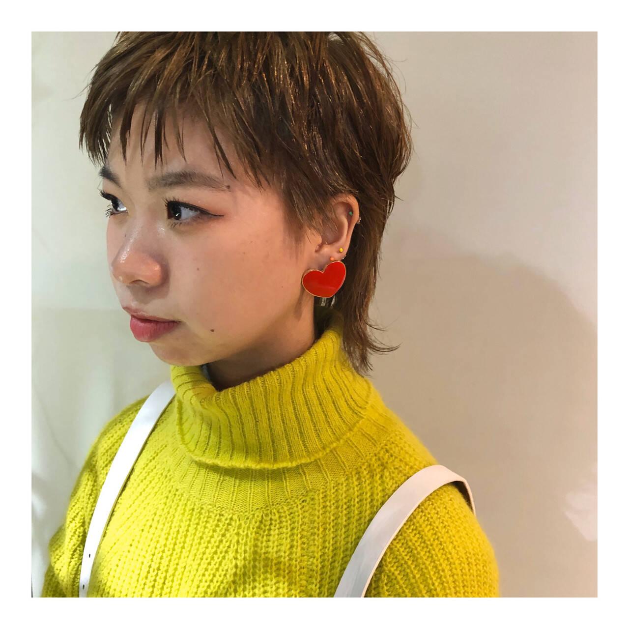 ショート ストリート ハイトーンカラー ベリーショートヘアスタイルや髪型の写真・画像