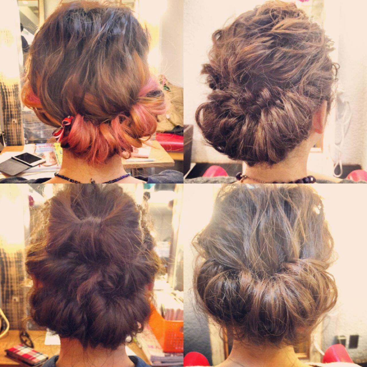 編み込み 大人かわいい アップスタイル ナチュラルヘアスタイルや髪型の写真・画像