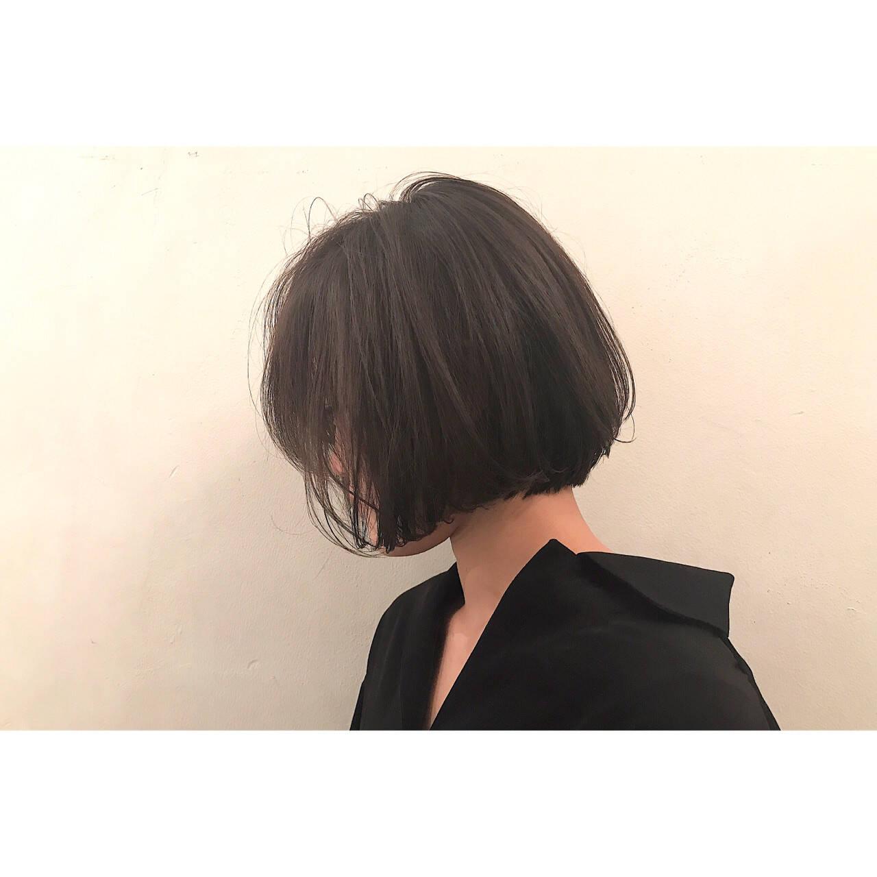 色気 ボブ ワンレングス ニュアンスヘアスタイルや髪型の写真・画像